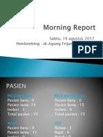 Morning Report 19 Agustus
