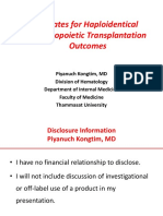 Updates for Haploidentical Hematopoietic Transplantation Outcomes