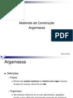 Materiais de Construção-Argamassa