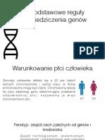 Podstawowe reguły dziedziczenia genów
