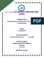 Tarea IV Fundamentos y Estructura Del Curriculo Dominicano
