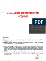 Analgezia Pacientilor in Urgente