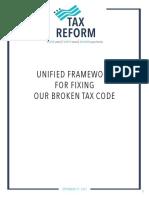 Unified Framework for Fixing Broken Tax Code - Tax Reform Framework