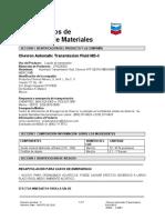 Hoja de datos de seguridad para ATF Dexron III