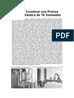 Cómo Construir Una Prensa Hidráulica de 15 Toneladas