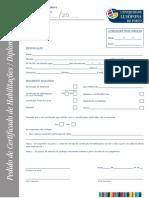 Pedido de Carta de curso + certidão (final de curso)