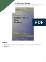 Handbook on Arrest Search and Seizure