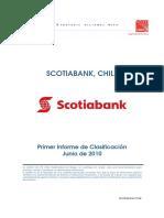 Informe Primera Clasificacion Banco Scotiabank Junio 2010
