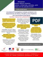 Programa Seminario México-Francia