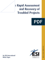 Rapid Assessment and Recovery of Troubled Projects