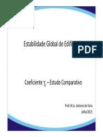 Estabilidade Global Exemplo Edifício