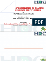 Role and Responsibilities of Shariah Scholars in Halal Certification