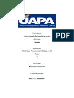 Tarea II Historia Del Pensamiento Politico y Socoal