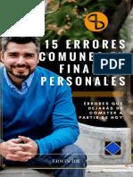 15 Errores Más Comunes en Finanzas Personales