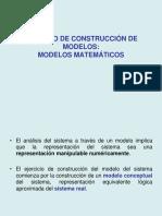 3. Proceso de Construcción de Modelos Matematicos