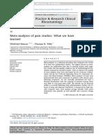 Meta Analyses of Pain Studies