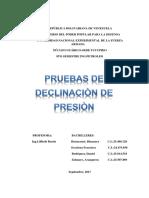 Pruebas de Declinacion de Presion