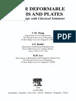 Shear Deformable Beams and Plates Backup