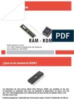 Trabajo Memorias RAM,ROM