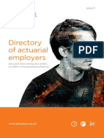 IFoA Directory of Actuarial Employers 2016-17-14102016