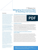 7 Steps to Mitigating Unconscious Bias in Teaching and Learning