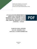 Avaliação Do Dimensionamento e Aspectos Construtivos de Um Sistema Fossa Séptica e Sumidouro