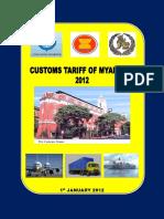 Customs Tariff of Myanmar 2012