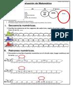 Evaluacion 1 Matemática PDF