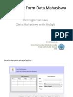 Java Membuat form data mahasiswa