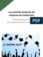 Elaboración Proyecto de Empresa de Traducción