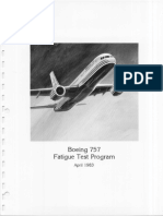 757 Full-Scale Fatigue Test Boeing