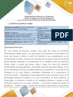 Syllabus Del Curso Diseño de Proyectos Sociales 400002 ..