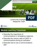 Cert Emergency Comms Ppt