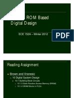 L13 - RAM & ROM Based Digital Design