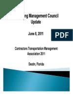 CTMA Packaging Management Council Update 06-08-11