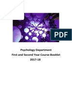First and Second Year Course Booklet 17 18