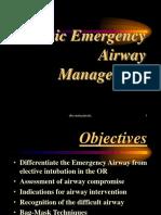 Basic Emergency Airway Management