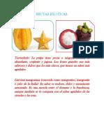 Practica No. 11 Frutas Exoticas