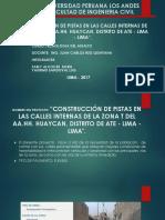 Exp.tec.Construccion de Pistas Zona t Huaycan