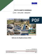Proyecto Santo Domingo_informe Anual 2012