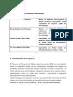 Programa Analítico de La Asignatura Dermatología