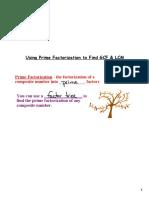 using prime factors to find lcm gcf