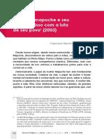 A Mulher Mapuche e Seu Compromisso Com a Luta de Seu Povo (2003)