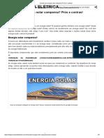 Investir Em Energia Solar Compensa_ Prós e Contras!