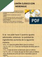 Pay de Limón Clásico Con Merengue