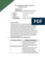 PROYECTO DE APRENDIZAJE DESDE EL ÁREA DE COMUNICACIÓN.docx