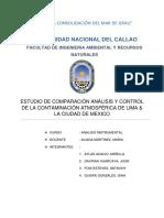 Estudio de Comparación Análisis y Control de La Contaminación Atmosférica de Lima & La Ciudad de México.