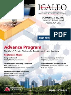 ICALEO17 AdvanceProgram Web | Laser | Welding