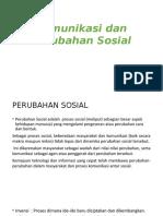 Komunikasi Dan Perubahan Sosial