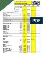 Catalogo MANN Autos 2015